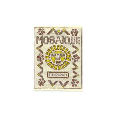 tygmärke mosaique handcraft se fler laglappar och tygmärken hos textil    presentia 636de4d3e15eb