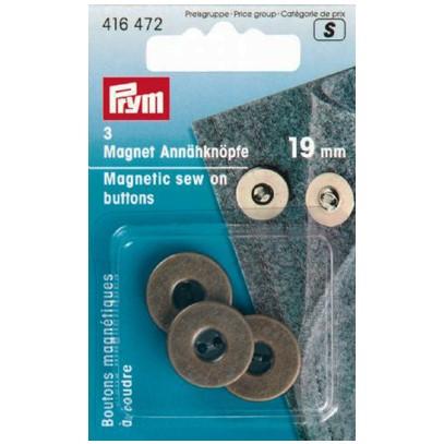 Magnetknappar 19 mm