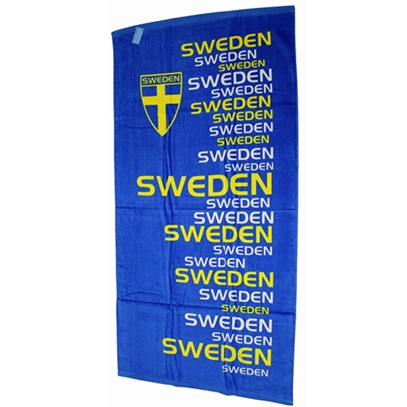 Badlakan med text Sweden