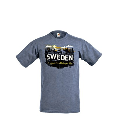 T-shirt Sweden Land of the Midnight Sun S